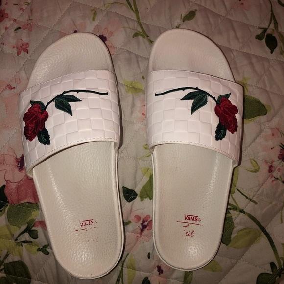 rose vans slides